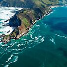 Aerial View - Nugget Point Lighthouse - South Island - New Zealand by Paul Davis