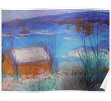 seascape-winter seaside house Poster