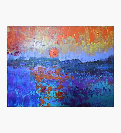 seascape-color in my heart Photographic Print