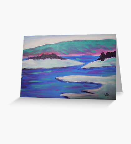seascape-ice world Greeting Card