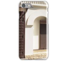 The facade of a small house iPhone Case/Skin