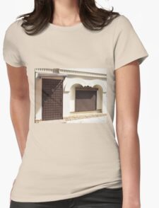 The facade of a small house Womens Fitted T-Shirt