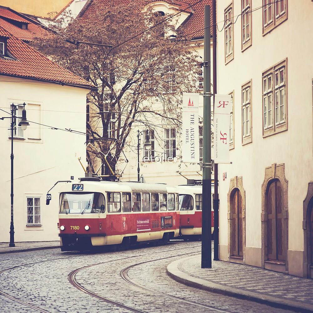 red tram by Natasha Calhoun
