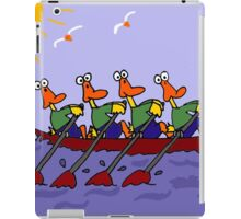 Cool Ducks in a Row Boat Cartoon iPad Case/Skin