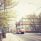 red tram ii, prague by etoile
