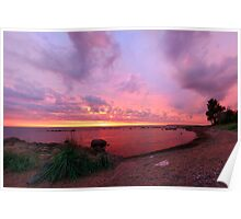 Pink sunset Poster