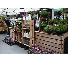 Street Flower Store Photographic Print