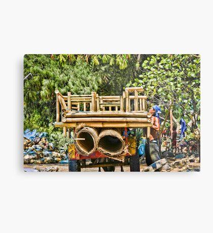 Cidomo horse carts of the Gili Islands 3 Metal Print