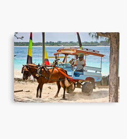 Cidomo horse carts of the Gili Islands 5 Metal Print