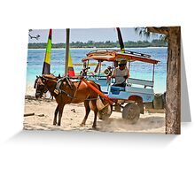 Cidomo horse carts of the Gili Islands 5 Greeting Card