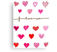 Love Card Canvas Print