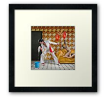 Elvis Has Mopped the Building Framed Print
