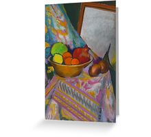 Still Life With Mirror  Greeting Card