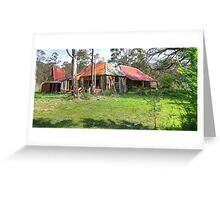 Old Abandoned Home and Hut - Nerriga, NSW, Australia Greeting Card