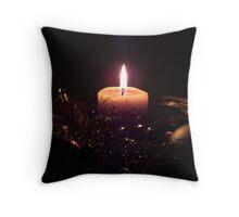 Christmas Candle Throw Pillow