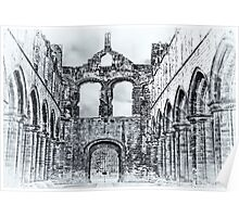 The Ruins of Kirkstall Abbey Poster