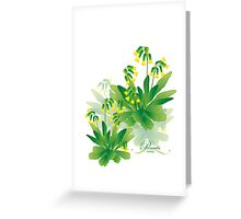 meadow flower yellow primrose design Greeting Card