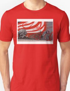 red tracks backs a bones Unisex T-Shirt