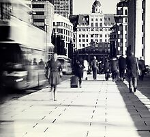 Commuters in London by fineartphoto1