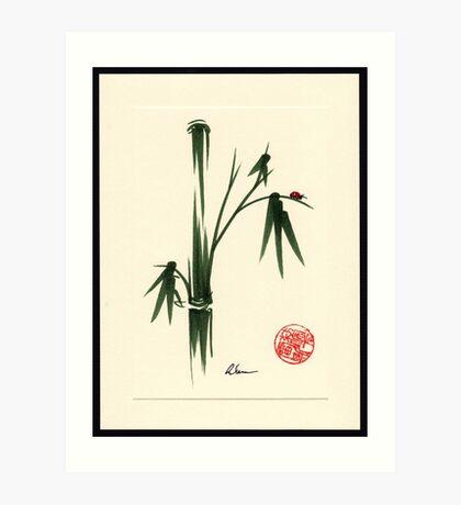 """She Walks in Beauty"" Huntington Gardens Plein Air Ladybug Art Print"