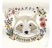 Happy RACCOON Day Poster