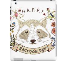 Happy RACCOON Day iPad Case/Skin