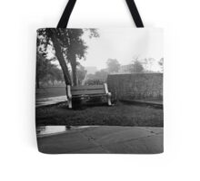 Rainy Day Bench Tote Bag