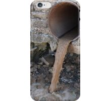 Dirty water flows from a brown rusty sewer pipes iPhone Case/Skin