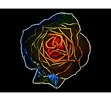Fractal Rose Photographic Print