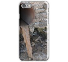 Dirty water flows from a brown rusty canalization pipes iPhone Case/Skin