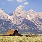 Old Barn on Mormon Row, Grand Tetons, Wyoming by Kenneth Keifer