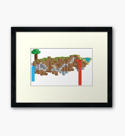 Minecraft Illustration Framed Print