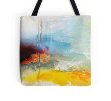 Yellow Blue Abstract Art Print Tote Bag
