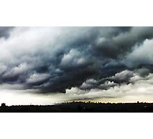 Storm clouds over New York City  Photographic Print