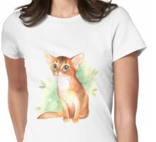 Ginger kitten Womens Fitted T-Shirt