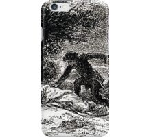 Achille Sirouy Mark Twain Les Aventures de Huck Huckleberry Finn illustration p081 iPhone Case/Skin