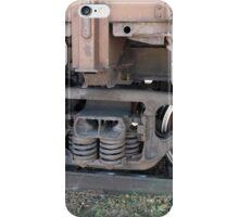 Detail closeup of a railroad car iPhone Case/Skin