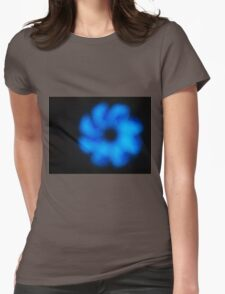 Blurred and out of focus image of an abstract blue shapes Womens Fitted T-Shirt