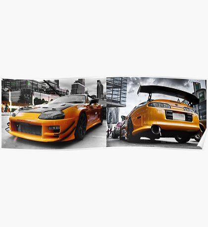Toyata Supra - Pimped street car racer HDR Poster