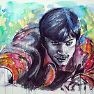 Portraits of Tom Welling, Clark Kent of Smallville, featured in Impressionism Café by Françoise  Dugourd-Caput
