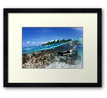 BELOW SURFACE Framed Print