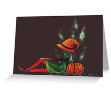 The spirit of Halloween Greeting Card