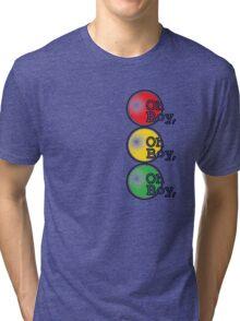 Oh Boy traffic light design Tri-blend T-Shirt