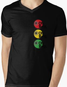 Oh Boy traffic light design Mens V-Neck T-Shirt