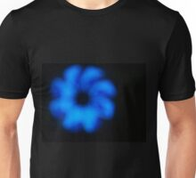 Blurred and defocused image of an abstract blue shapes Unisex T-Shirt