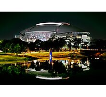 Cowboys Stadium by night Photographic Print