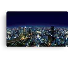 Osaka by Night - Japan Canvas Print
