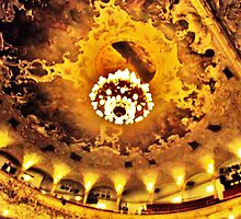 The Golden Insides of the Prague Opera House by Take-A-Stand