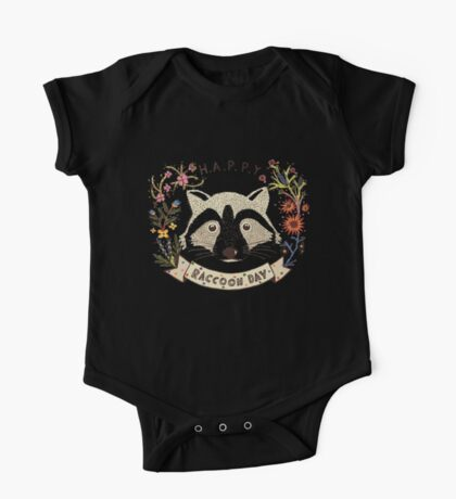 Happy RACCOON Day One Piece - Short Sleeve