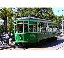 Number 1818 - Milan Streetcar in San Francisco Photographic Print